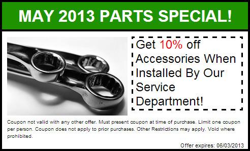 2013 May Parts Special